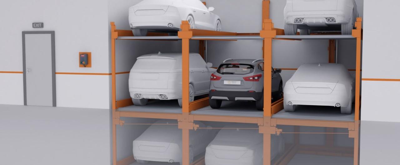 P-310 Semi-automatic Puzzle Parking System - KLAUS Multiparking